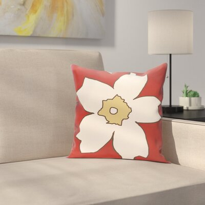 Silvas Floral Throw Pillow Size: 18 H x 18 W, Color: Buddha / Ginger