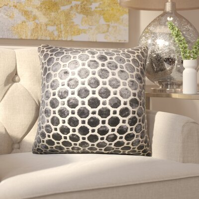 Maeve Geometric Throw Pillow Cover Color: Black