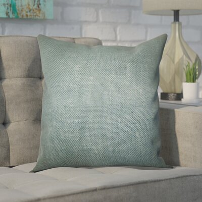 Portsmouth Solid Burlap Throw Pillow Color: Grey, Size: 18 H x 18 W