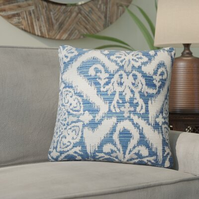 Ashly Ikat Throw Pillow Color: Indigo