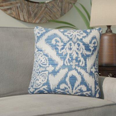 Ashly Ikat Throw Pillow Color: Indigo