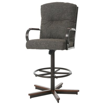 Ketchum Swivel Bar Stool Color: Arcadia Brown, Size: 51.25 H x 28.5 W x 28 D