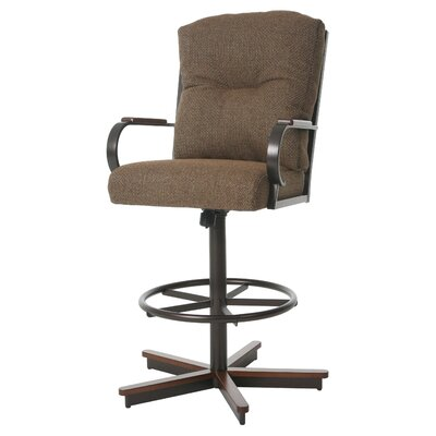 Ketchum Swivel Bar Stool Color: Sienna Auburn, Size: 51.25 H x 28.5 W x 28 D