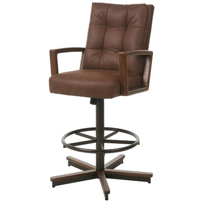 Kier Swivel Bar Stool Size: 45 H x 28 W x 26 D