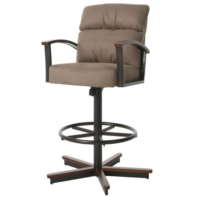 Kiesel Swivel Bar Stool Size: 43.25 H x 30.75 W x 28 D