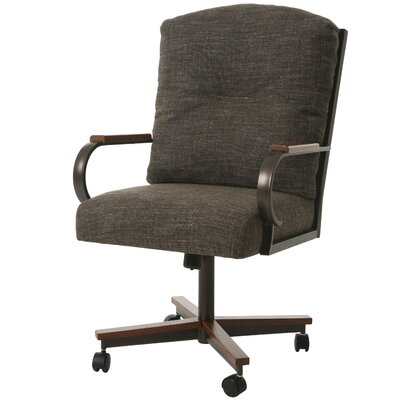 Ketchum Upholstered Dining Chair Color: Arcadia Brown