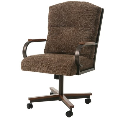 Ketchum Upholstered Dining Chair Color: Sienna Auburn