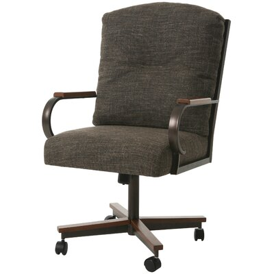 Kiker Port Upholstered Dining Chair Color: Arcadia Brown
