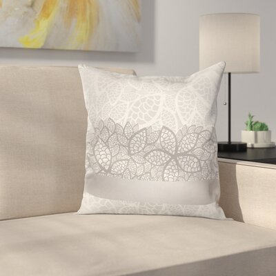 Lace Square Cushion Pillow Cover Size: 18 x 18