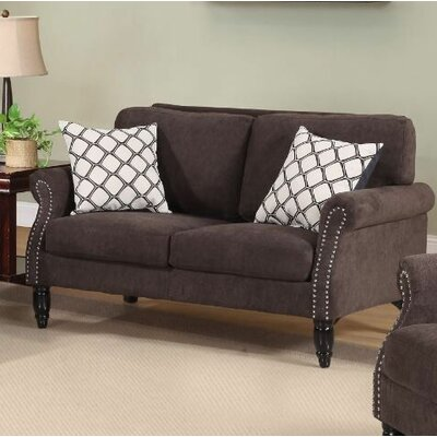 Lawncrest Loveseat Upholstery: Sofa Brown