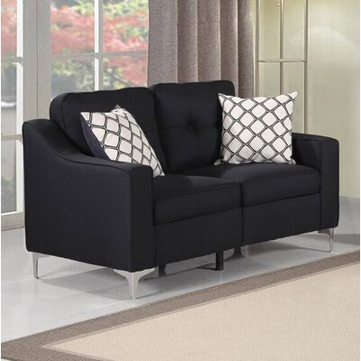 Lawncrest Loveseat Upholstery: Loveseat Black