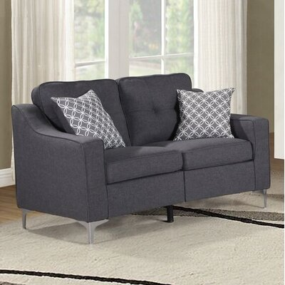Lawncrest Loveseat Upholstery: Loveseat Gray