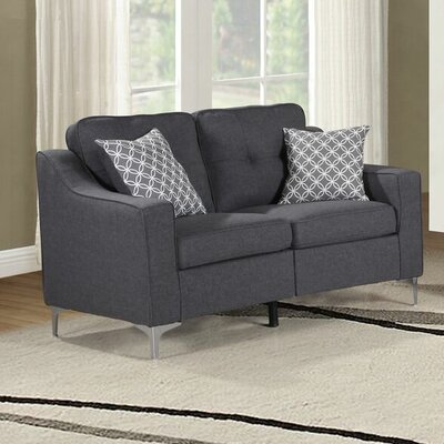 Lawncrest Loveseat Upholstery: Sofa Gray