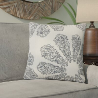 Pismo Beach Ikat Down Filled 100% Cotton Throw Pillow Size: 22 x 22, Color: Gray