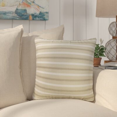 India Striped Down Filled 100% Cotton Throw Pillow Size: 18 x 18, Color: Tan