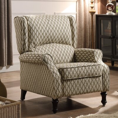 Evonna Manual Recliner Upholstery: Beige