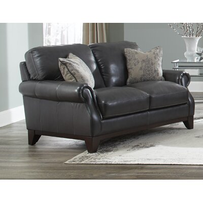 Cioffi Genuine Leather Loveseat
