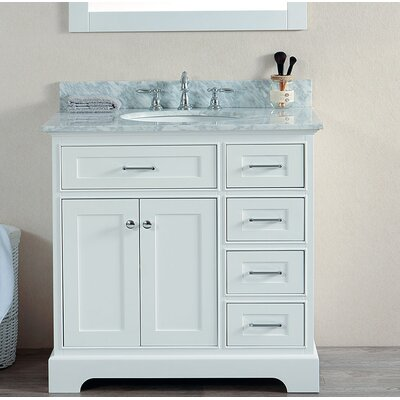 Harney 36 Single Bathroom Vanity Set Base Finish: White