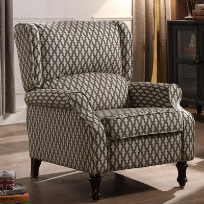 Evonna Manual Recliner Upholstery: Brown