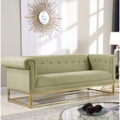 Dollman Button Tufted Sofa Upholstery: Beige