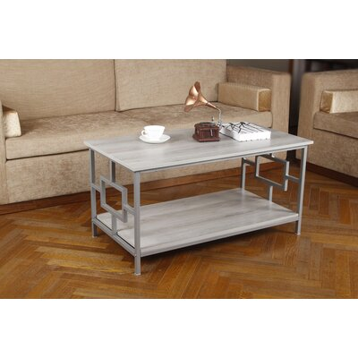 Kidwelly Coffee Table with Storage Table Top Color: Oak, Table Base Color: Gray