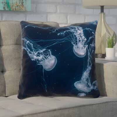 Nathaniel Jellyfish Outdoor Throw Pillow Size: 18 x 18