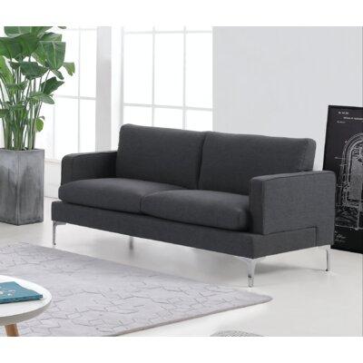Steller Loveseat Upholstery: Dark Gray
