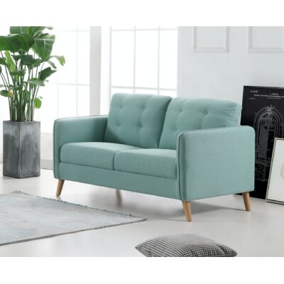 Cortright Loveseat Upholstery: Light Gray