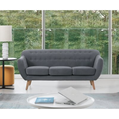 Cothern 3 Seater Sofa Upholstery: Black