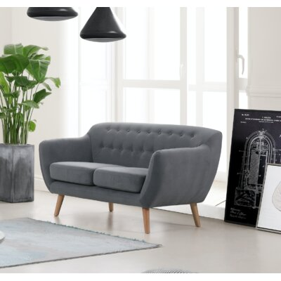Cothern Loveseat Upholstery: Dark Gray