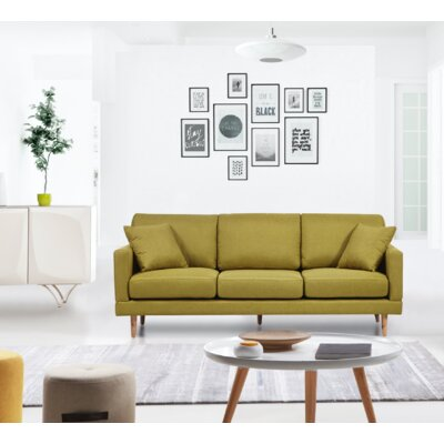 Cote Mid-Century Sofa Upholstery: Lime
