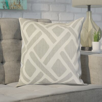 Moton Linen Throw Pillow Color: Asphalt, Size: 18x18