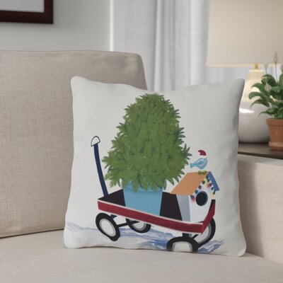 Take Me Home Outdoor Throw Pillow Size: 16 H x 16 W, Color: Light Gray