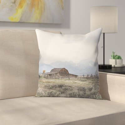 Luke Gram Grand Tetons Wyoming Throw Pillow Size: 18 x 18
