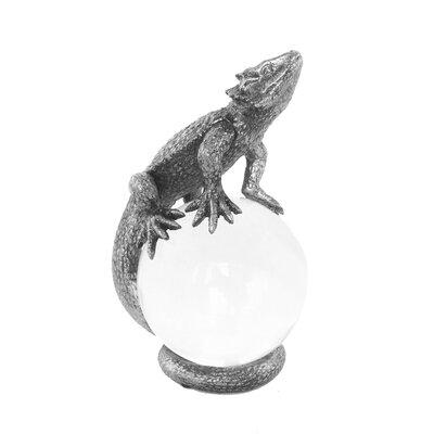 Skillman Polished Polyresin Lizard on Glass Ball Figurine ED89BF080A954F6E9EC25C9106367F82