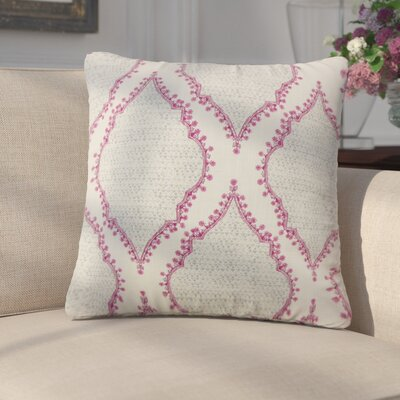 Ilario Ikat Cotton Throw Pillow Color: Gray