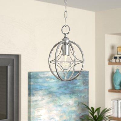 Silvester 1-Light Globe Pendant Finish: Brushed Nickel