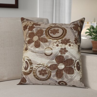Merlene Daisy Decorative Throw Pillow Color: Brown / Gold