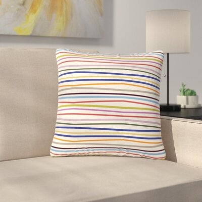 Billington Stripe Fun Outdoor Throw Pillow Size: 18 H x 18 W x 5 D