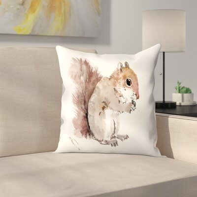 Squirrell 3 Throw Pillow Size: 16 x 16