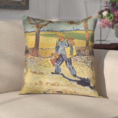 Zamora Self Portrait Indoor Pillow Cover Size: 18 x 18