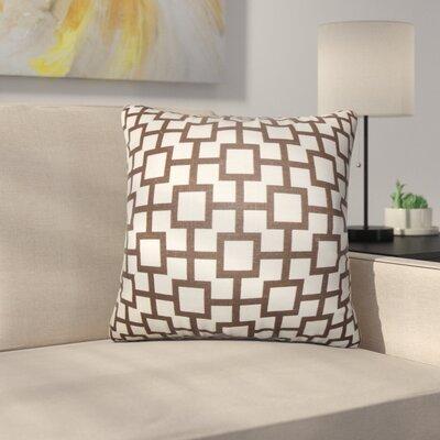 Rezendes Geometric Cotton Throw Pillow Color: Black