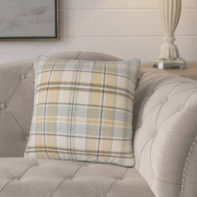 Tschaenn Plaid Throw Pillow Color: Tan