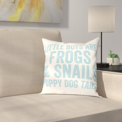 Frogs & Snails Throw Pillow Size: 20 H x 20 W x 2 D, Color: Light Blue