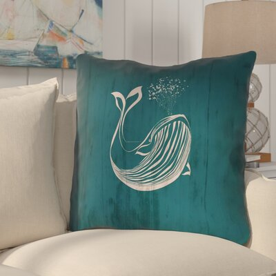 Lauryn Rustic Whale Euro Pillow with Concealed Zipper