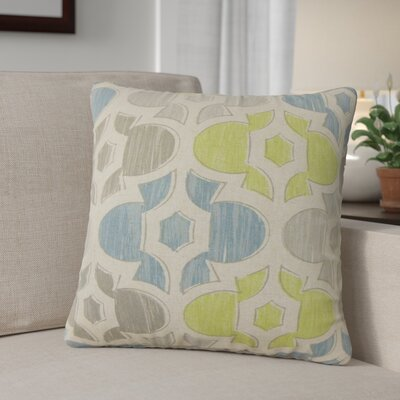 Sevier Geometric Cotton Throw Pillow Color: Gray
