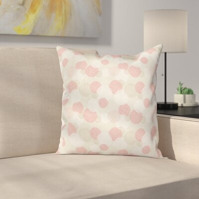 Pastel Soft Spring Floral Motif Square Pillow Cover Size: 18 x 18