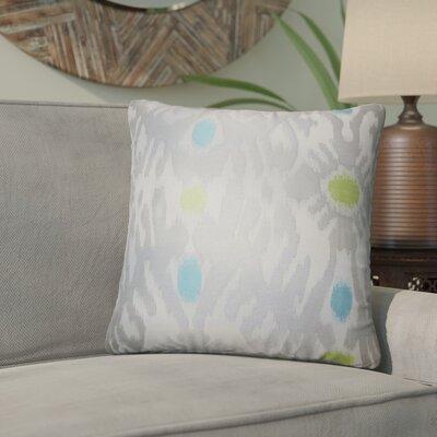 Aahil Ikat Throw Pillow Color: Gray