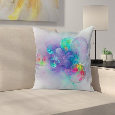 Fabric Creative Modern Design Square Pillow Cover Size: 24 x 24