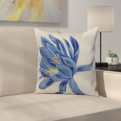 Memmott Throw Pillow Color: Royal Blue, Size: 18 x 18